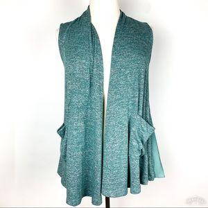LOGO Lagenlook Sleeveless Sweater Cardigan